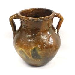 1975 Navajo Pine Pitch Pottery Jar by Mary Smith