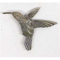 Sterling Silver Hummingbird Pin