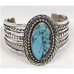Beautiful Navajo Sterling Turquoise Bracelet