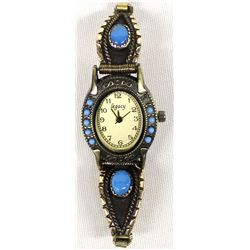 Navajo Gold Filled Turquoise Watch Band