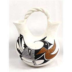 Acoma Pottery Wedding Vase by Edith Sarracino