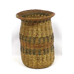 Vintage Native American 3-Toned Cherokee Basket