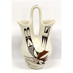 Hopi Pottery Wedding Vase by Joy Navasie
