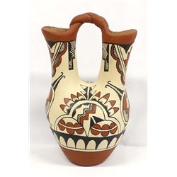 Large Jemez Pottery Wedding Vase by L.C. Toledo