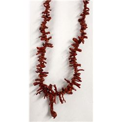 Beautiful Red Branch Coral Necklace