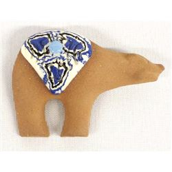 Ceramic Pottery and Micaceous Clay Bear Pin