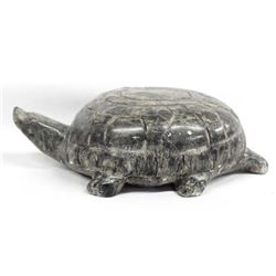 Cree Carved Stone Turtle by Leo Patrick
