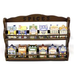 Avon Cozy Cottage Spice Jars and Rack