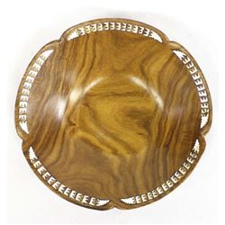 Beautiful Wood & Inlay Mother of Pearl Bowl