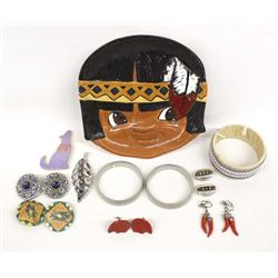 Misc. Southwestern Jewelry and Ceramic Tray
