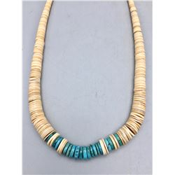 Vintage Pueblo Turquoise and Shell Necklace
