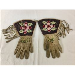 Early 1900s Beaded Gauntlets
