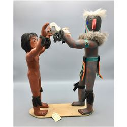 Vintage Hopi Kachina Display