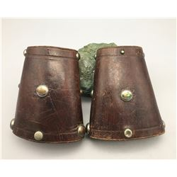 Vintage Leather Cowboy Cuffs
