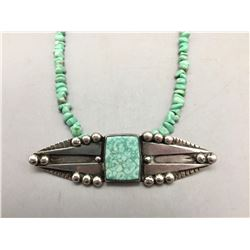 Unique Sterling Silver and Variscite Necklace