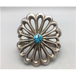 Vintage Sandcast Turquoise Bracelet