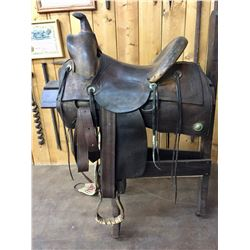 Antique RT Frazier Cowboy Saddle
