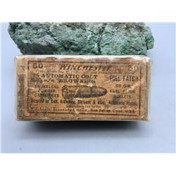 Antique Original Box Winchester .25 Caliber Ammo