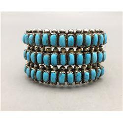Vintage 3 Row Turquoise Bracelet