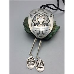 Huge Hopi Overlay Custom Made Bolo