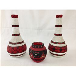 Paiute Beaded Jars and Vases