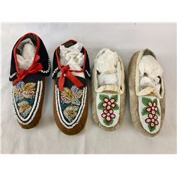 Two Pair Beaded Moccasins