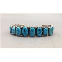 Vintage 16 Stone Turquoise Bracelet
