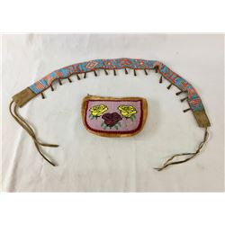 Old Beaded Belt and Beaded Purse