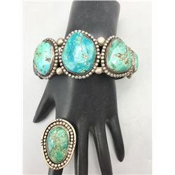 Vintage Turquoise Bracelet and Ring
