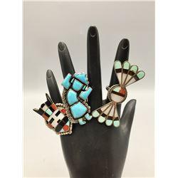Three Zuni Rings