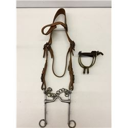 Vintage Military Bridle and Spurs