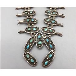 Unique, Vintage, Squash Blossom Necklace