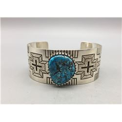 Sterling Silver and Turquoise Bracelet - T. Mitchell