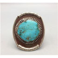 Large Stone Vintage Turquoise Bracelet