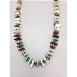 Multi-Stone and Turquoise Necklace