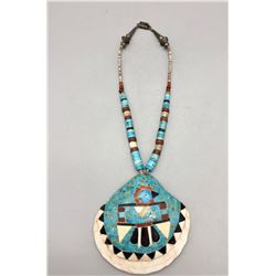 Vintage Pueblo Inlay Shell Necklace