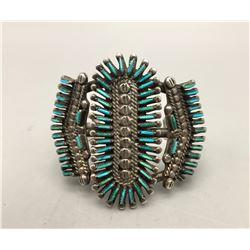 Zuni Needlepoint Turquoise Bracelet