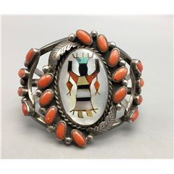 18-Stone Coral, With Inlay Bracelet