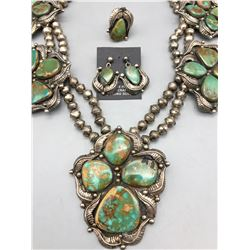 """""""Statement"""" Turquoise Necklace, Earrings and Ring Set"""