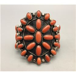 Coral Cluster Bracelet