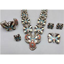 "Old, Zuni ""Butterfly"" Set"