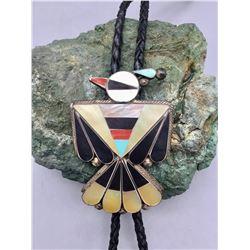 Vintage Zuni Inlay Bolo - Thunderbird