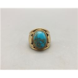 Man's Gold and Turquoise Ring