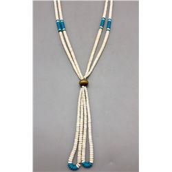 White Shell and Turquoise Necklace