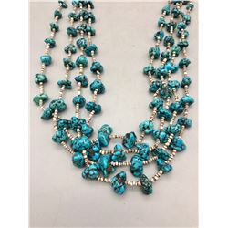 4-Strand Turquoise and Heishi Necklace