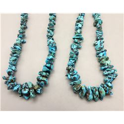 Two Turquoise Nugget Necklaces