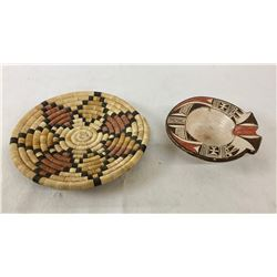 Hopi Basket and Pottery Ashtray