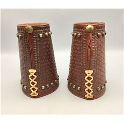 """Spotted"" Leather Cowboy Cuffs"