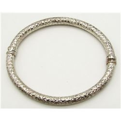 STERLING SILVER BANGLE BRACELETTE- MARKED