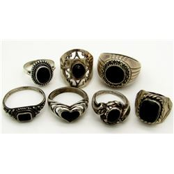 7 STERLING SILVER RINGS SIZE RAGE 4-10